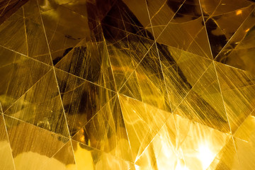Dark Gold geometric shapes glass abstract texture and background