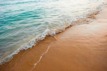 sea water on the beach