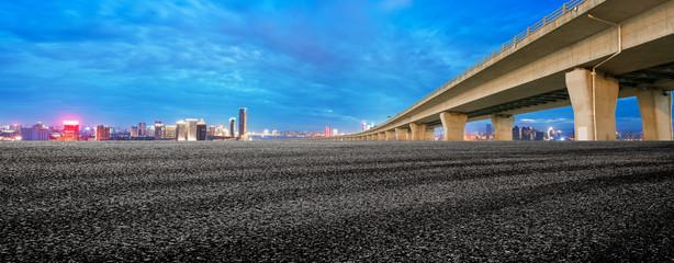 Night view of Hangzhou Bay Cross Sea Bridge in Zhejiang Province, China