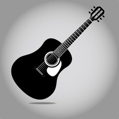 Stylized acoustic guitar vector eps 10