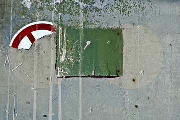 Texture Background Wall Stone Ground Flat Rough Dirty Grunge Color Grey Green Lines Strokes Organic Sprinkler Rip Close Up Traffic Sign Lost Broken
