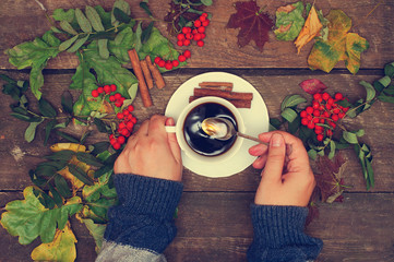 coffee, autumn