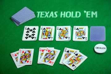 Poker cards Texas Hold em