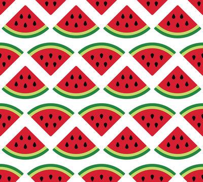 watermelon seamless pattern on white background
