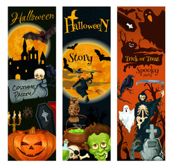 Halloween holiday celebration party banner design