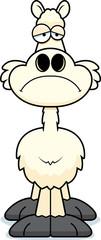 Sad Cartoon Llama