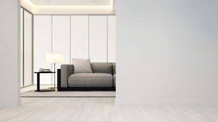 living room in apartment or hotel - Interior Design - 3D Rendering