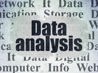 Data concept: Data Analysis on Digital Data Paper background