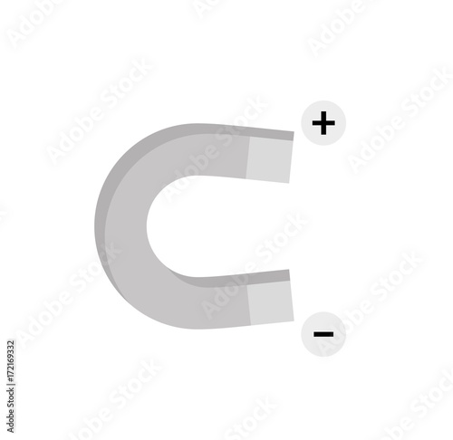 Magnet With Plus And Minus Symbol Stock Image And Royalty Free