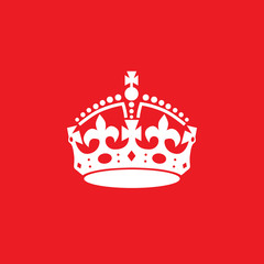 English crown vector icon.