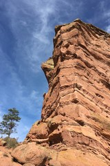 Rock structure of Red Rocks Amphitheater in Morrison, Colorado
