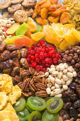 Mix of nuts , dried and candied fruit