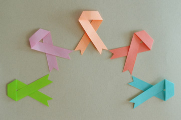 group of strips of breast cancer, lymphoma, uterine, leukemia an