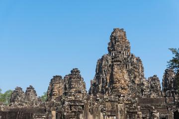 Bayon temple in angkor thom siem reap cambodia