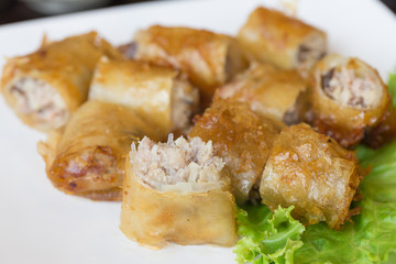 Rice noodle roll fried.vietnamese food