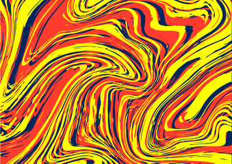 Marble graphic background design in primary colors, blue, red and yellow.