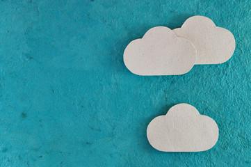 sky background horizontal with three cloud