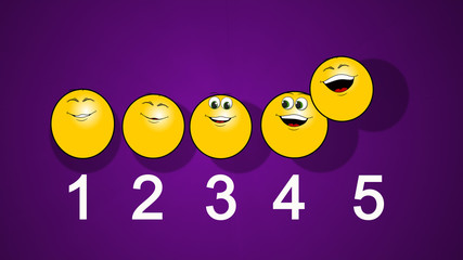 Funny preschool math 1 to 5