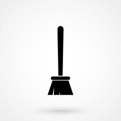 broom icon. sign design
