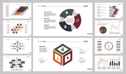 Ten Logistics Slide Templates Set