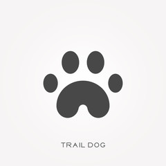 Silhouette icon trail dog