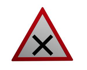 Verkehrszeichen: Kreuzung rechts vor links