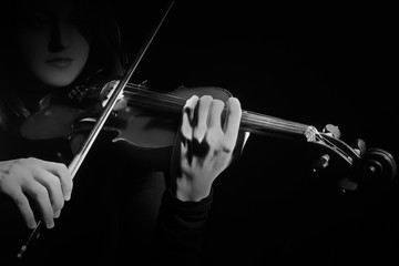 Violin player Violinist playing violin