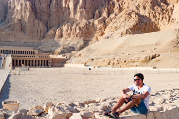 The ancient temple of Hatshepsut in Luxor, Egypt