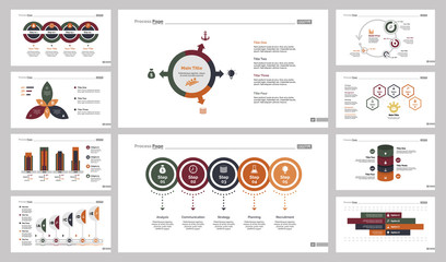Ten Training Charts Slide Templates Set