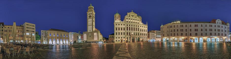 Augsburg Rathausplatz Panorama