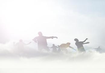 zombies in mist