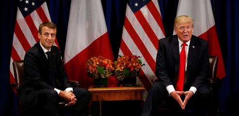 Trump meets with French President Macron in New York