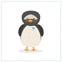Penguin, small, toy funny penguin, vector