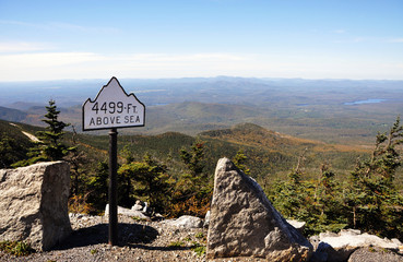 Half way to the top of Whiteface Mountain in fall, New York State, USA.