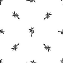 High palm tree pattern seamless black