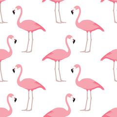 Canvas Prints Flamingo Flamingo seamless pattern