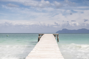 Boardwalk Through Sea