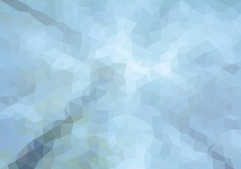 Colorful background consisting of light and dark blue triangles. Mosaic backdrop of geometric elements. Abstract stacked pattern