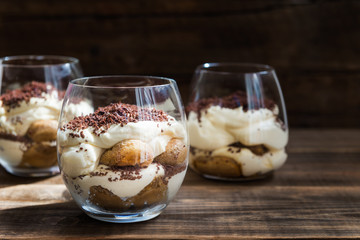 Canvas Prints Dessert Traditional Italian dessert Tiramisu in a Glass Jar