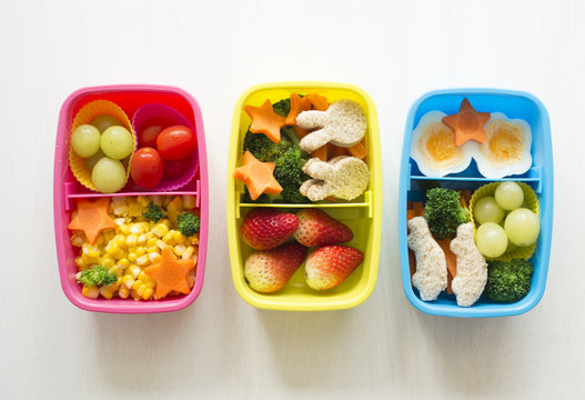 Healthy kids' lunchboxes