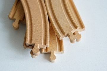 Wooden toy track