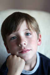 Portrait of boy with Freckles