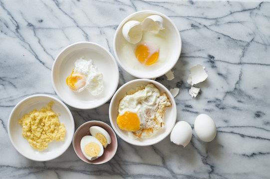 Five ways of cooking eggs
