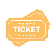Cinema ticket vector icon