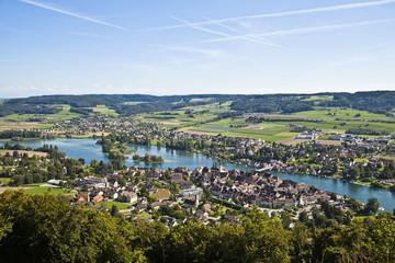 Aerial view of Stein Am Rheim village