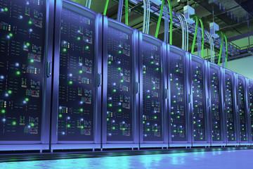 Data processing center. Server room
