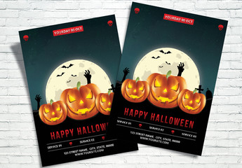 Halloween Party Flyer Layout 3