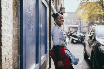 Beautiful Black woman outdoor in the city