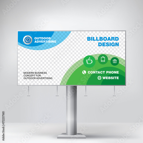 billboard design graphic template for placement advertising ready