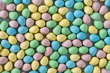 Pastel Easter Eggs From Above